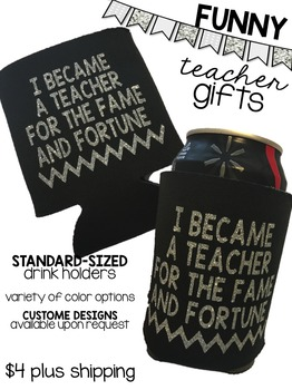 Teacher Drink Koozie