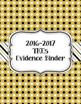 Teacher Effectiveness Keys (TKEs) Binder in Black and Gold
