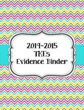 Teacher Effectiveness Keys (TKEs) Binder in Bright Chevron