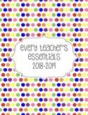 Teacher Essentials: 2016-2017Planner, Organizer, Gradebook