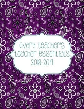 Teacher Essentials:2016-17 Planner, Organizer, Gradebook (