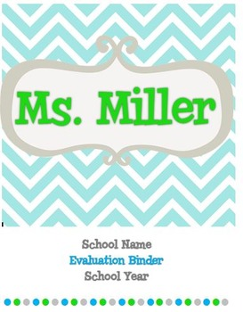 Teacher Evaluation Binder {Chevron}
