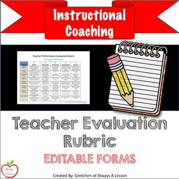 Instructional Coaching: Teacher Evaluation Rubric