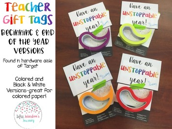Teacher Gift Tags- Stoppy Door Stops