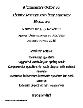 Teacher Guide for Harry Potter and the Deathly Hallows