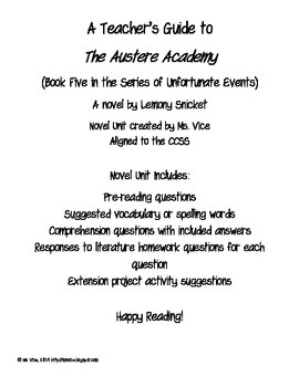 Teacher Guide for the Austere Academy