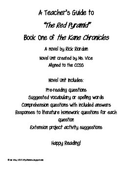 Teacher Guide for the Red Pyramid