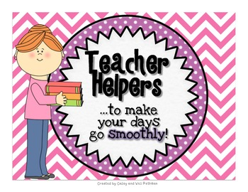 Teacher Helpers To Keep Your Day Running Smoothly {Chevron Print}