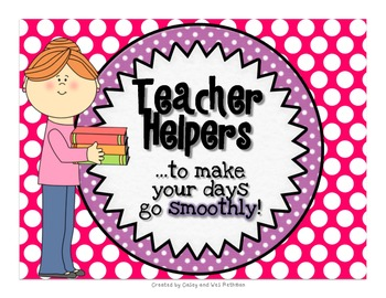 Teacher Helpers To Keep Your Day Running Smoothly {Polka D
