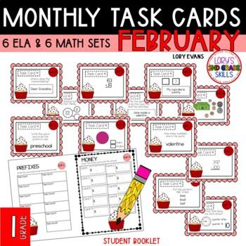 """""""Teacher, I'm Done!"""" Task Cards February 1st GRADE"""
