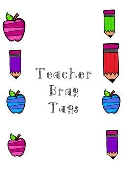 Teacher Leader Brag Tags Motivation Reward