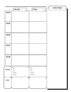 Teacher Lesson Plan Book (custom)