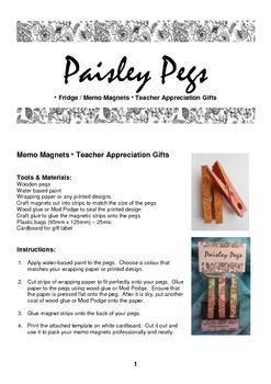 Teacher Memo Magnet Pegs