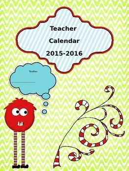 Teacher Monster Calendar