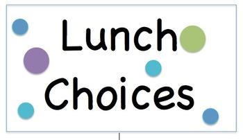 Lunch Choices - Polka Dot