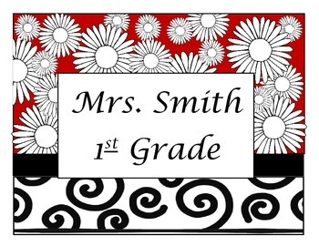 Teacher or Student Name Sign - Editable