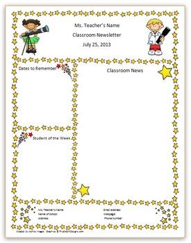 Teacher Newsletter Template - Stargazer Theme