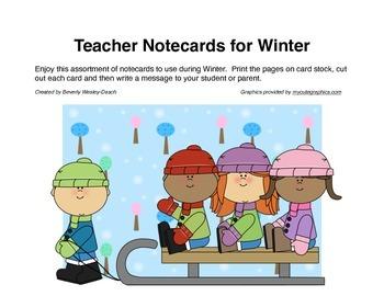 Teacher Notecards for Winter