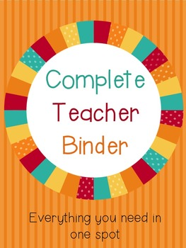 All in One Teacher Organization Binder Set