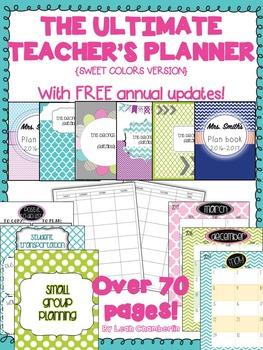 Teacher Planner {Sweet Colors}