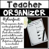 Teacher Organizer Sheet