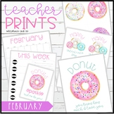 Teacher PRINTS February {teacher stationary and printables}