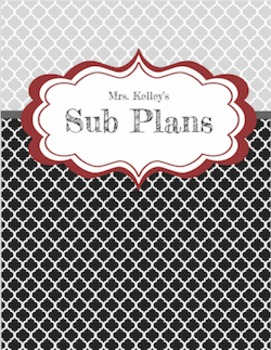 Plan Book- Complete with weekly and daily calendar, Sub Pl