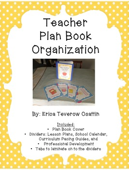 Teacher Plan Book Organizer
