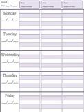 Teacher Plan Book Pages