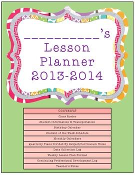 Teacher Planner 2013-2014 {non-editable version!}