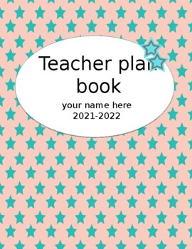 Teacher Plan Book 2016-2017 in Bright and Bold; Fully Cust