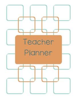 Teacher Planner 2016-17 Light Brown and Blue Chevron