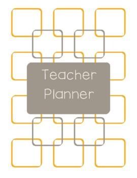 Teacher Planner 2016-17 Orange and Dark Gray Chevron