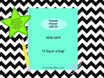Teacher Planner Calendar Add-On: A Zig or a Zag