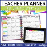 Teacher Planner - Chevron {Free Updates Every Year}