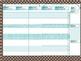 Teacher Planner // Editable // Blue Polka