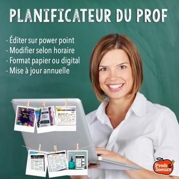 Planificateur à éditer / Agenda du prof