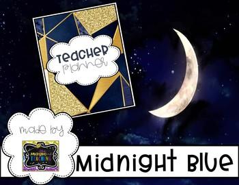 Teacher Planner - Midnight Blue Design
