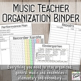 Ultimate Music Teacher Organization Binder Bundle