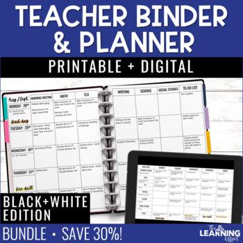 Teacher Planner {Editable} - Plain