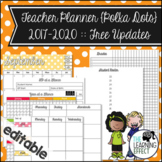 Teacher Planner {Editable} - Polka Dots