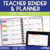 Teacher Planner - Rainbow Hexagonal {Free Updates Every Year}