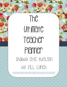Teacher Planner - Shabby Chic Edition