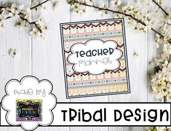 Teacher Planner - Tribal Design