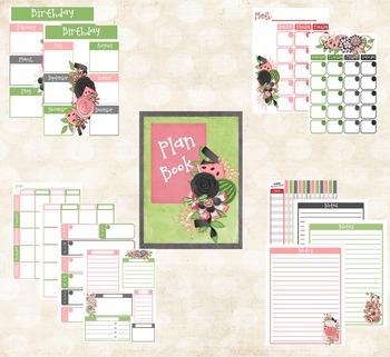 Teacher Planner Watermelon Colors