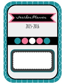 Teacher Planning Binder 2015-2016