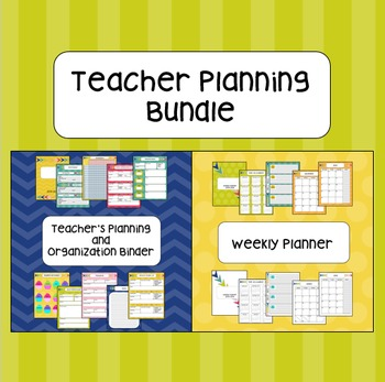 Teacher Planning Bundle
