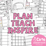 Plan Teach & Organize - Teacher Planning Pages
