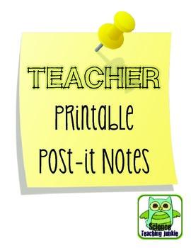 Teacher Printable Post-it Notes FREEBIE