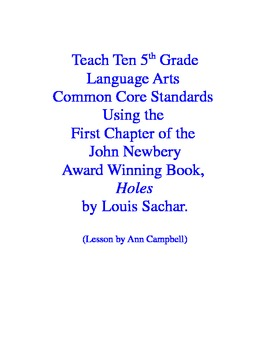 Teacher Read-Aloud of First 3 Chapter of Holes and Test El